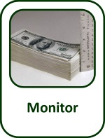measuring a stack of 100 dollar billes