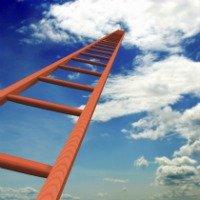 ladder reaching the sky