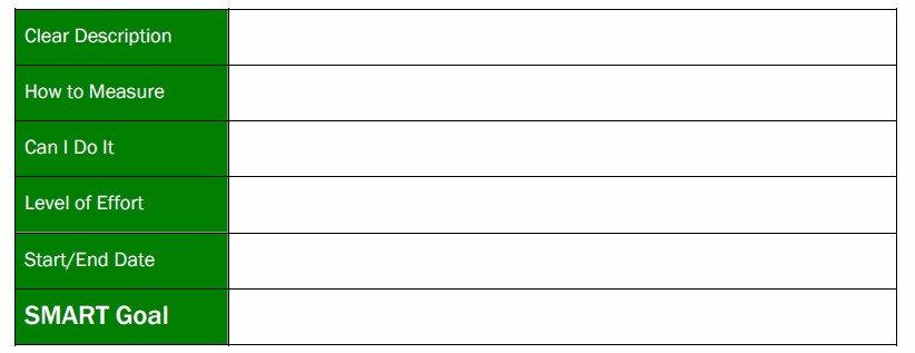 A screenshot of a personal finance goal using a goal setting template